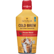 Gevalia Cold Brew House Blend Concentrate Iced Coffee 32 oz Bottle