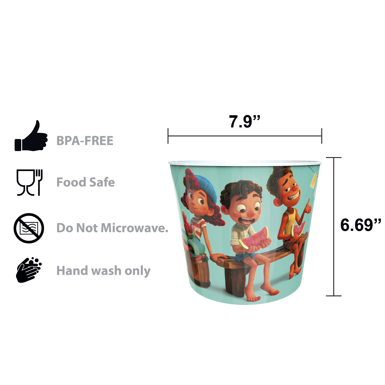 Disney and Pixar Plastic Popcorn Container and Bowls, Luca, 5-piece set slideshow image 5