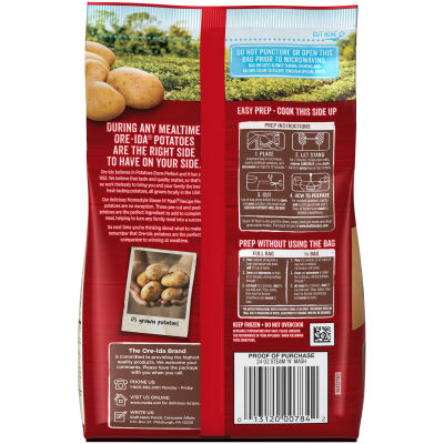 Ore-Ida Steam N' Mash Cut Russet Potatoes 24 oz Bag
