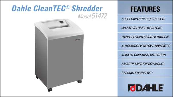 DAHLE CleanTEC® 51472 Office Shredder InfoGraphic