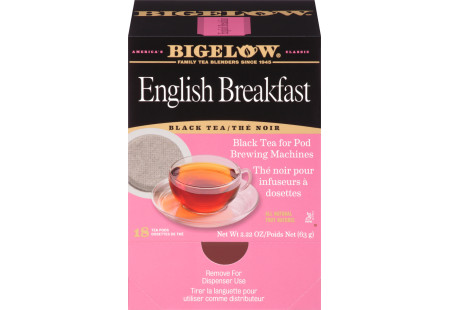Front facing English Breakfast Tea for Pod Machine tea box