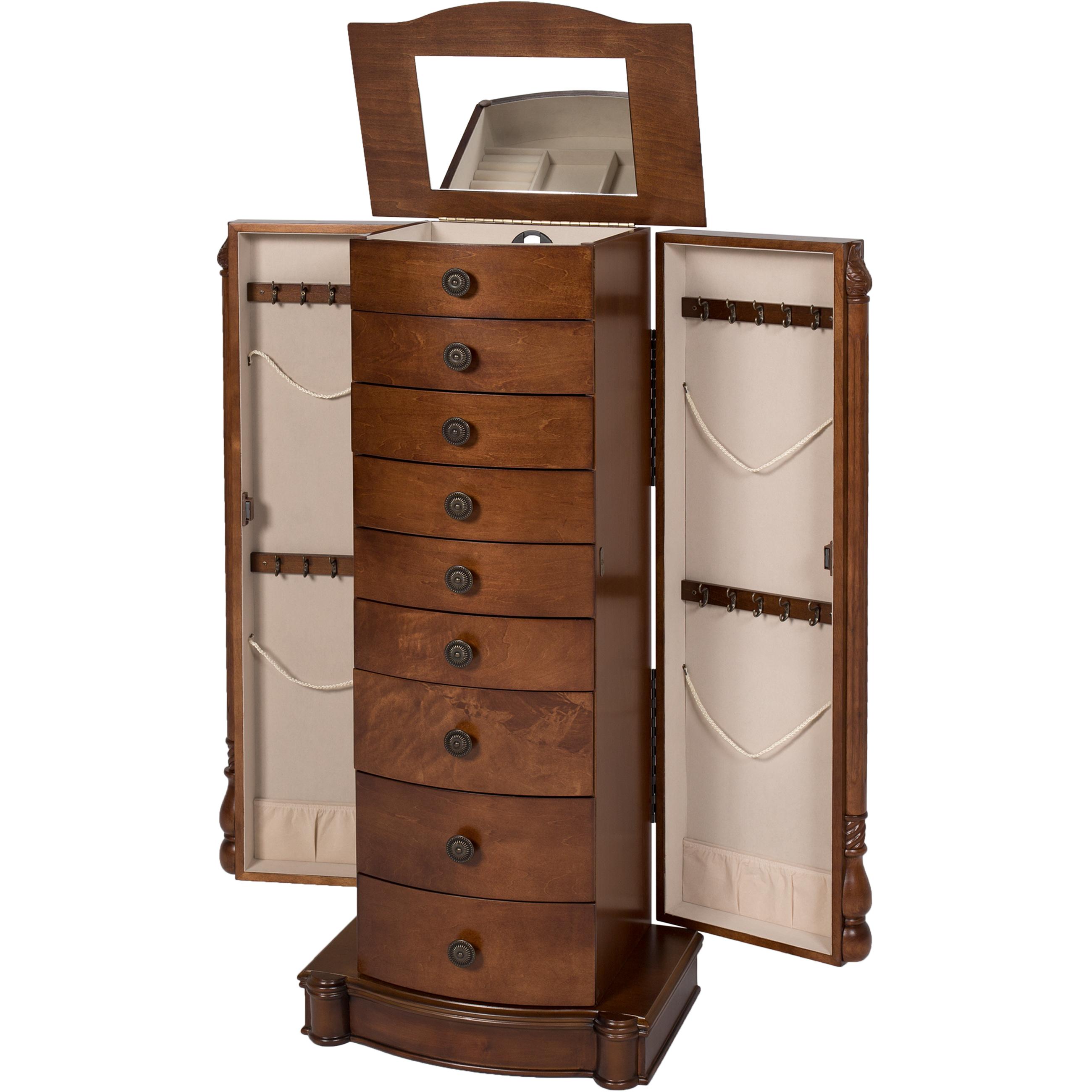 Armoire Jewelry Cabinet Box Storage Chest Stand Organizer ...