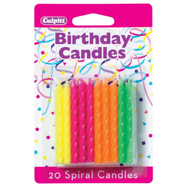 "Spiral Candles - 2 ½"" Smooth & Spiral Candles"