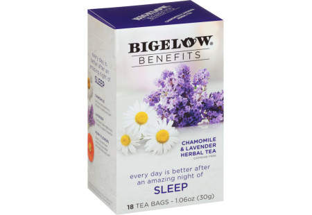 Benefits Chamomile and Lavender Herbal Tea - Case of 6 boxes- total of 108 teabags