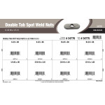 "Double Tab Spot Weld Nuts Assortment (#6-32 thru 1/2""-13)"
