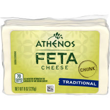 Athenos Traditional Chunk Feta Cheese 8 oz Bag