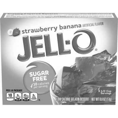 Jell-O Strawberry Banana Sugar-Free Gelatin 0.6 oz Box