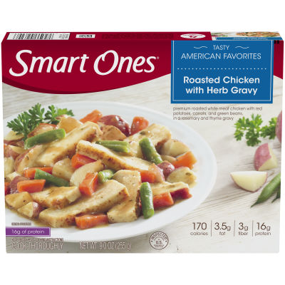 Smart Ones Tasty American Favorites Roasted Chicken with Herb Gravy 9 oz Box