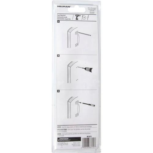 Hardware Essentials Utility Door Pull Zinc 7-3/4