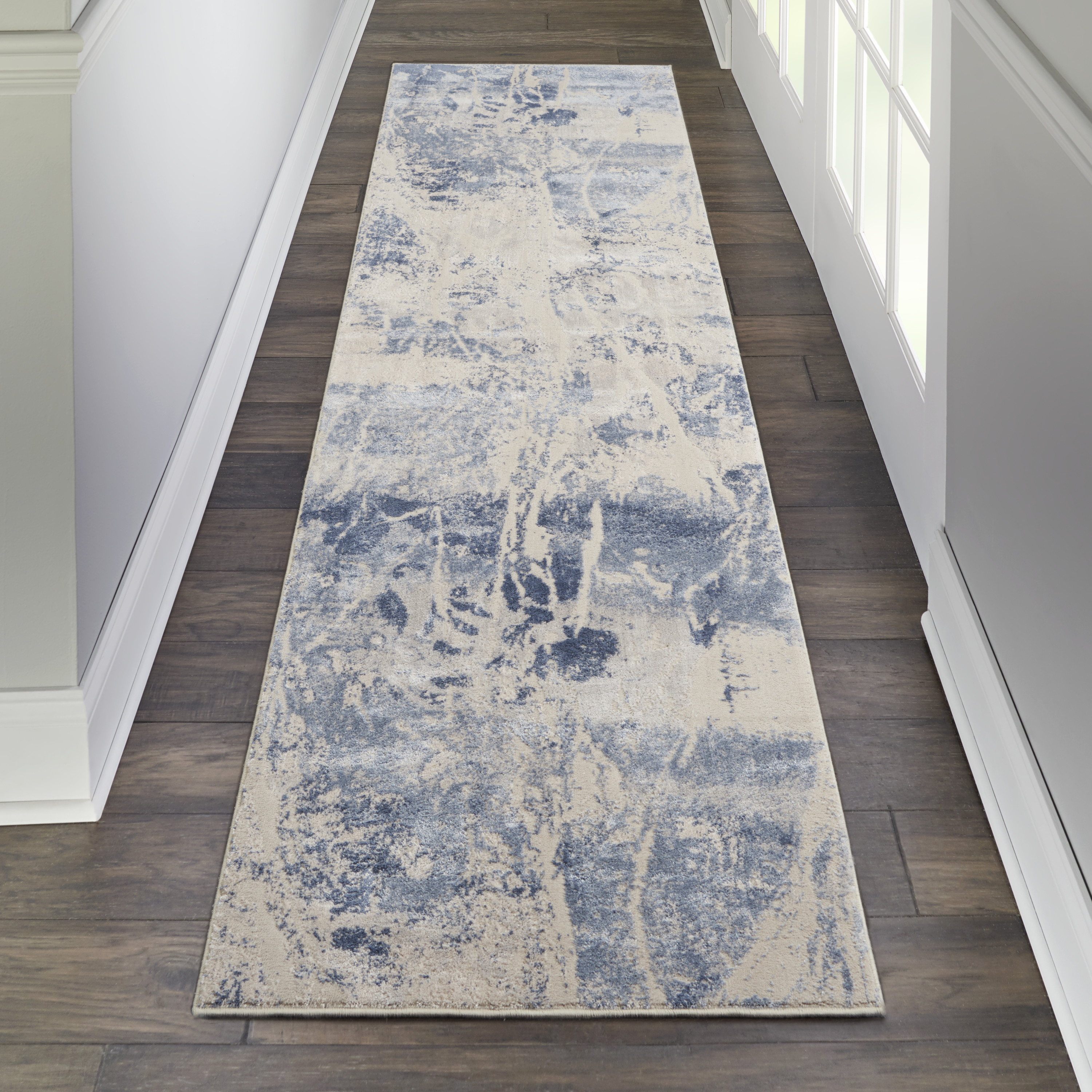 Nourison Silky Textures SLY02 Blue Cream Rug
