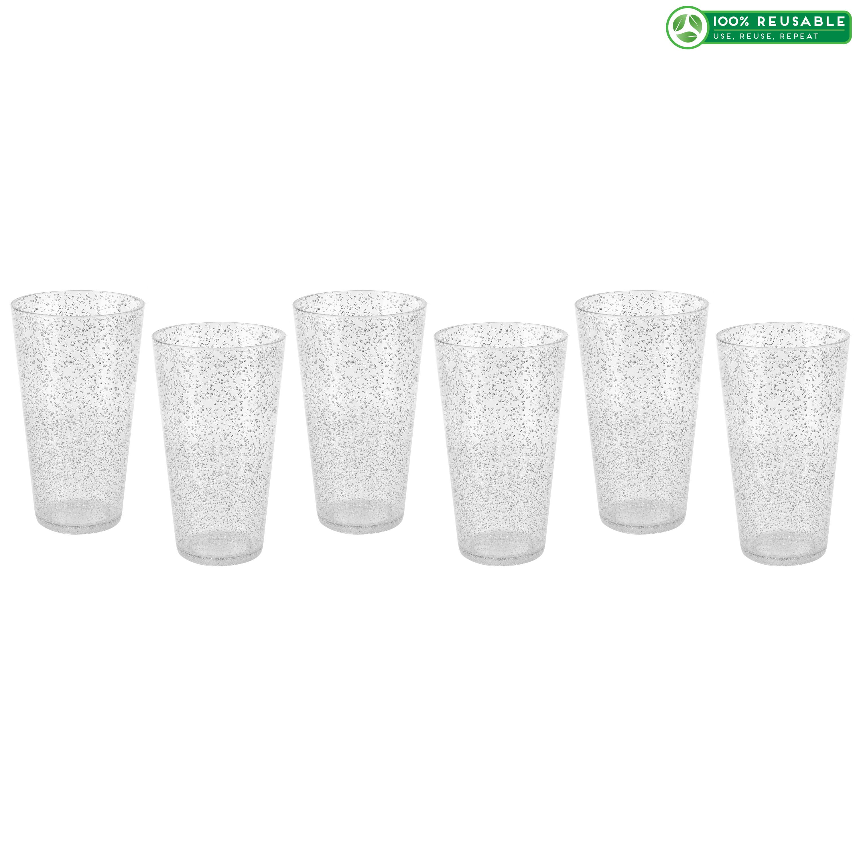 Spritz 23 ounce Highball Glass, Clear, 6-piece set slideshow image 1