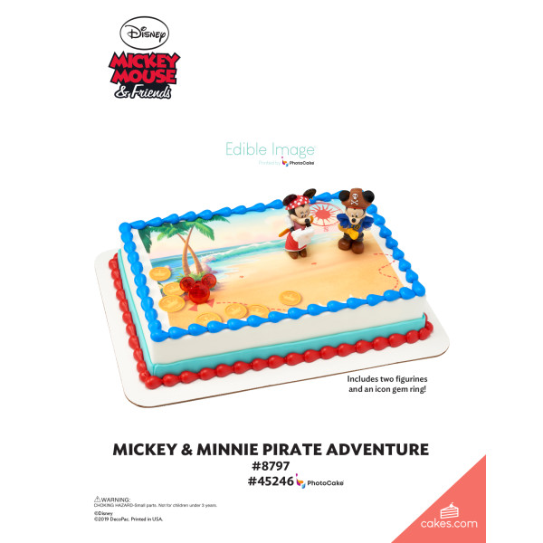 Mickey Mouse & Friends Mickey & Minnie Pirates DecoSet® The Magic of Cakes® Page