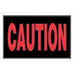 "Caution Sign, 8"" x 12"""