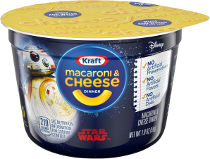 Kraft Star Wars Shapes Macaroni & Cheese Dinner 1.9 oz. Microcup image