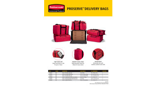 Learn more about ProServe™ Delivery Bags and ProServe™ Lightweight Insulated Carriers