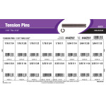 """Tension Pins Assortment (1/16"""" thru 3/32"""" Diameter)"""