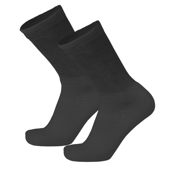 1919 Loose Fit Crew Length Black Diabetic Socks