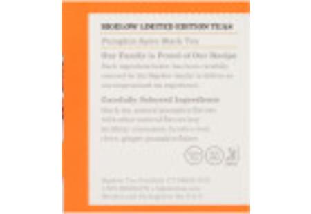 Ingredient panel  of Pumpkin Spice Black Tea box