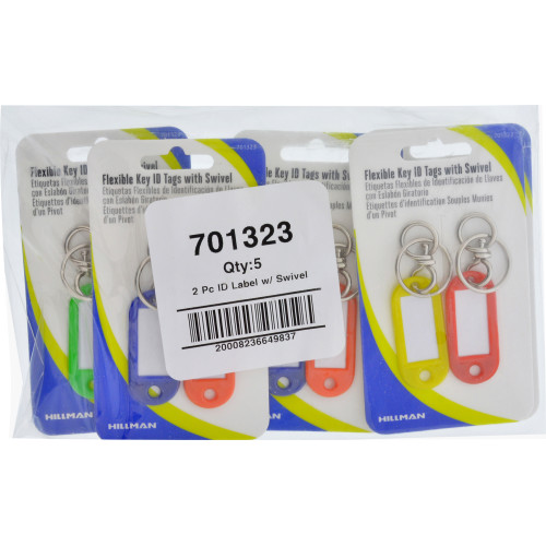 Flexible ID Tag with Swivel Ring 2 Pack