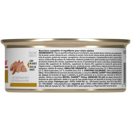 Royal Canin Veterinary Diet Feline Urinary SO Canned Cat Food