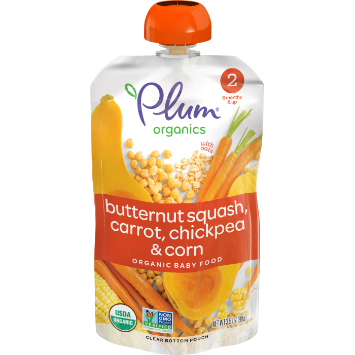 Butternut Squash, Carrot, Chickpea & Corn Baby Food