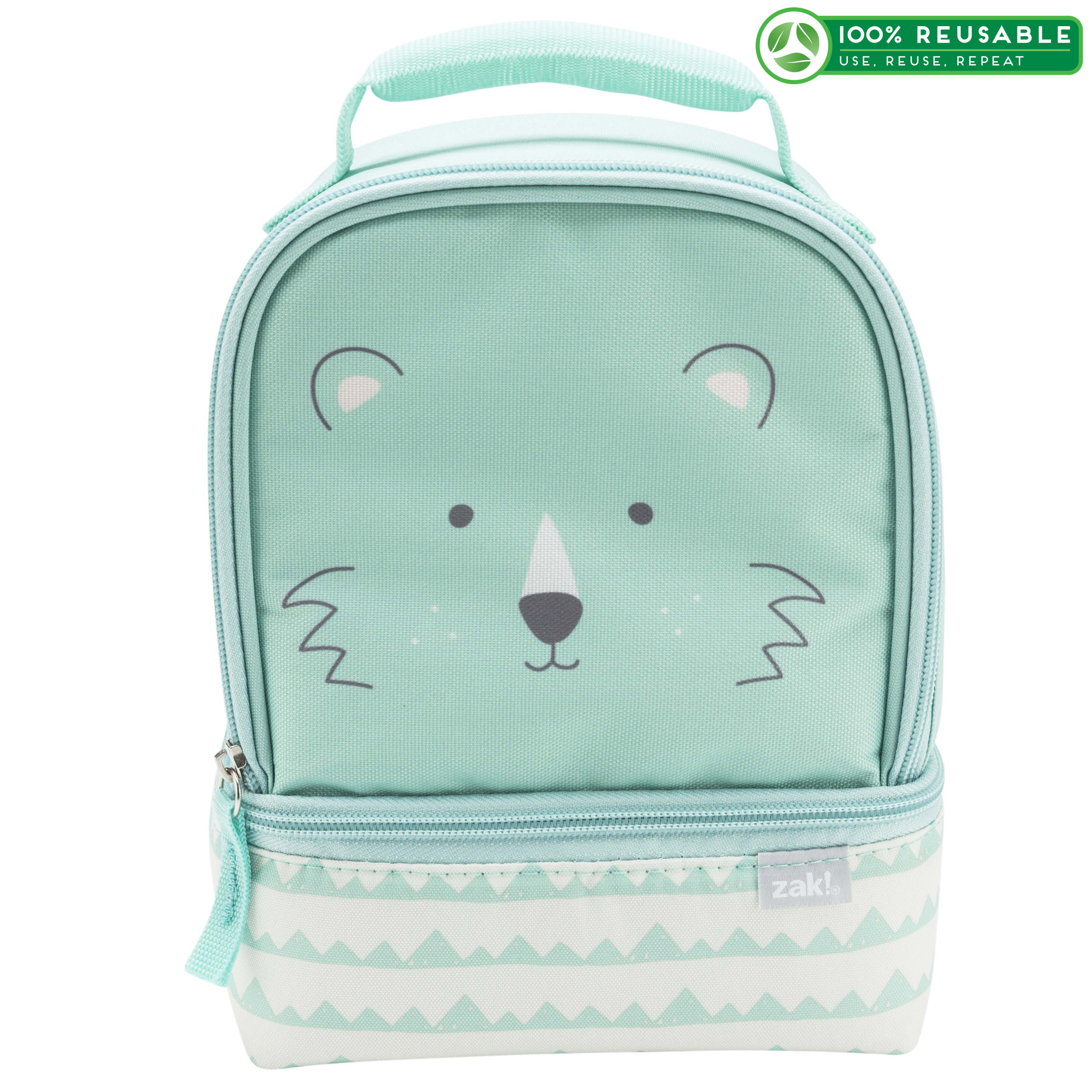 Soft Lines 2-compartment Reusable Insulated Lunch Bag, Teddy Bears slideshow image 1