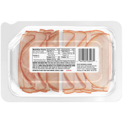 Oscar Mayer Deli Fresh Oven Roasted Turkey Breast & Smoked Ham Combo, 9 oz Package