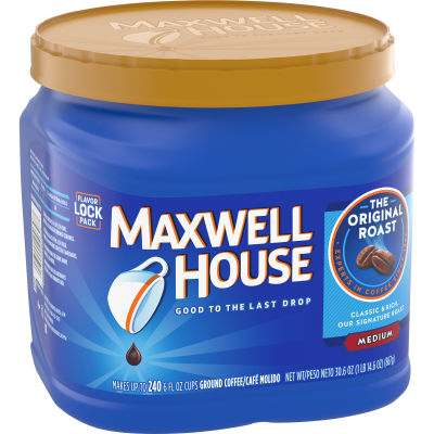 Maxwell House Original Blend Ground Coffee, Medium Roast, 30.6 Ounce Canister
