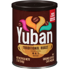Yuban Traditional Medium Roast Ground Coffee, 12 oz Canister