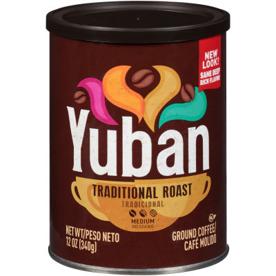 Yuban Traditional Medium Roast Ground Coffee 12 oz Canister