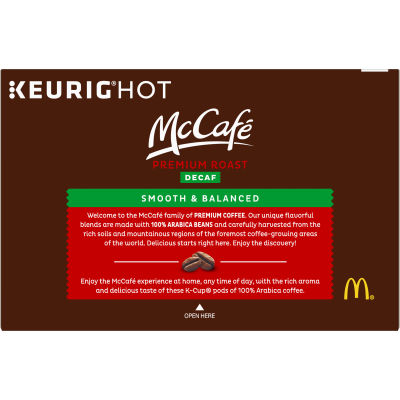 McCafe Decaf Premium Roast Coffee K-Cup Pods, 12 count