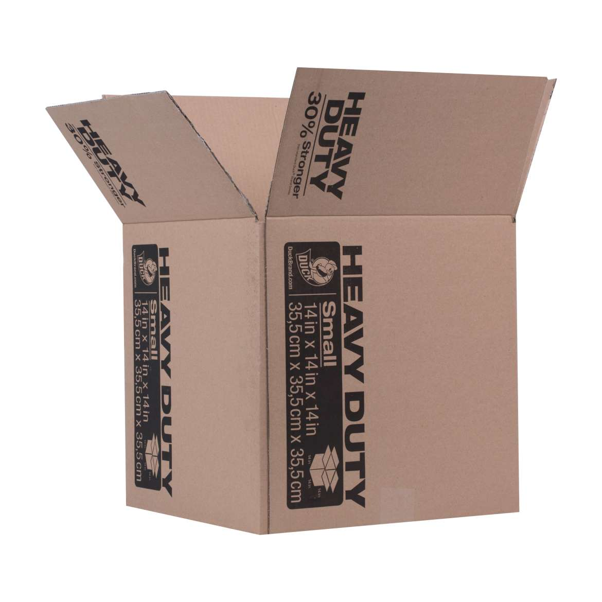 Duck® Brand Heavy Duty Kraft Box - Brown, 14 in. x 14 in. x 14 in. Image