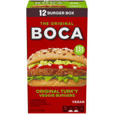 BOCA Original Vegan Veggie Burgers 12ct 30.0 oz