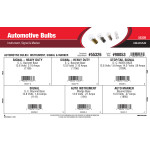 Automotive Bulbs Assortment (Instrument, Signal, & Marker)