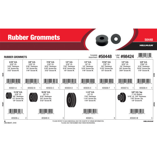 Rubber Grommets Assortment (5/16