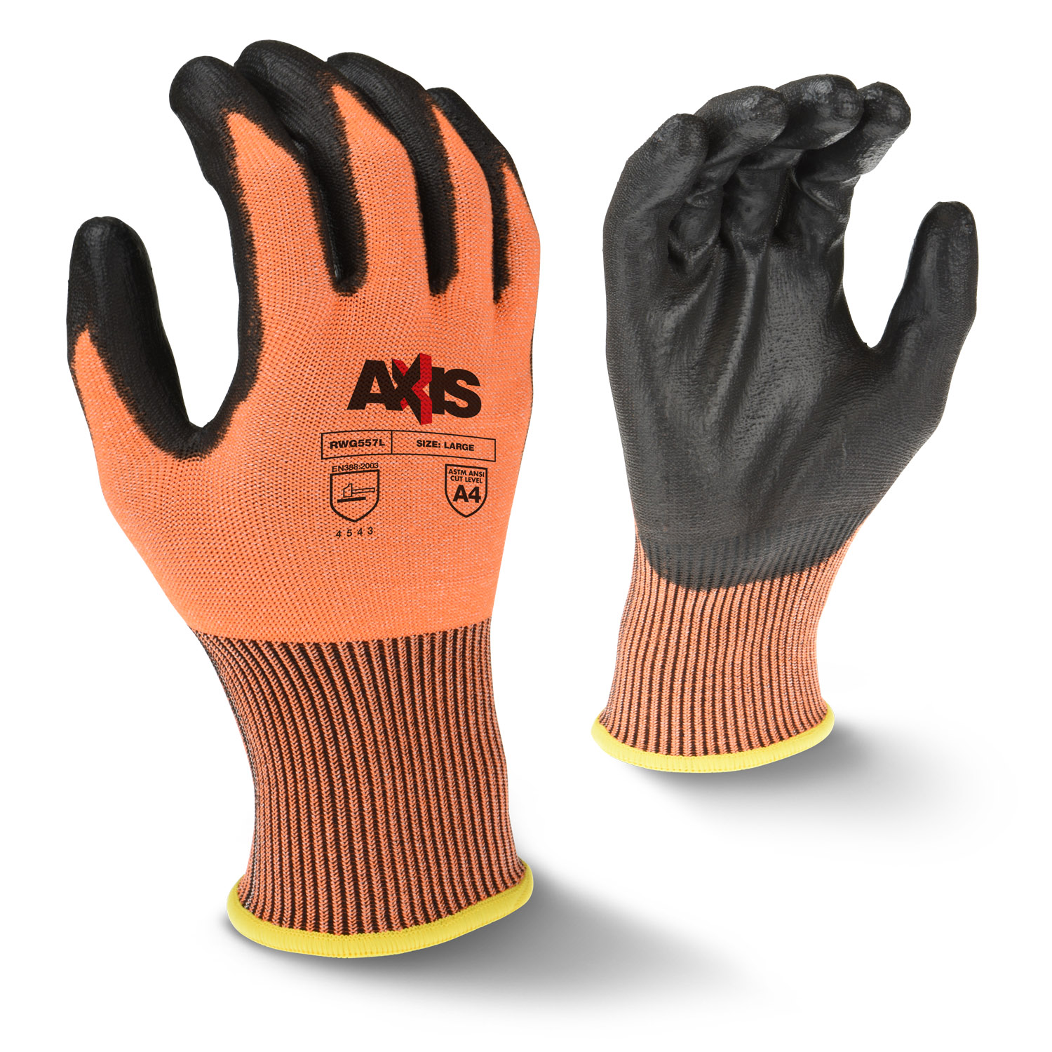Radians RWG557 AXIS™ Cut Protection Level A4 High Tenacity Nylon Glove