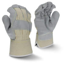 Radians RWG3400W Side Split Gray Cowhide Leather Glove