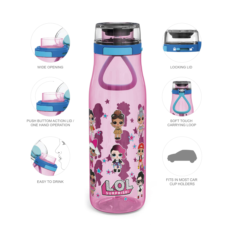 LOL Surprise 25 ounce Water Bottle, Favorite LOL Characters, 3-piece set slideshow image 7