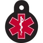 Small Circle Medical ID Quick-Tag