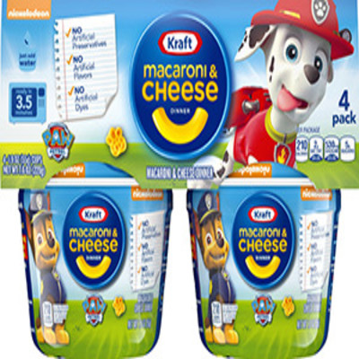 Kraft Paw Patrol Shapes Macaroni & Cheese Dinner 4-1.9 oz. Microcups