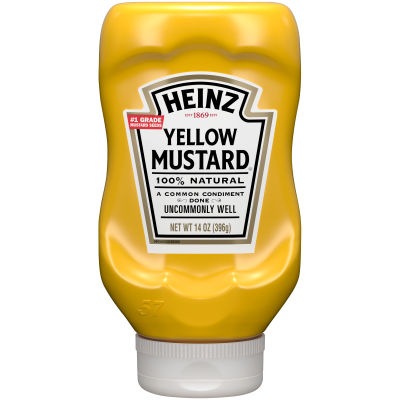 Heinz Yellow Mustard 14 oz Bottle