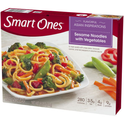 Smart Ones Sesame Noodles with Vegetables 9 oz Box