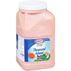 KRAFT Bulk Fat-Free Thousand Island Salad Dressing, 1 gal. Jug (Pack of 4) image