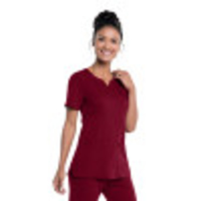 Urbane Ultimate Notch Neck Scrub Top for Women: 2 Pocket, Contemporary Slim Fit, Luxe Soft Stretch Fabric Medical Scrubs 9062-Urbane