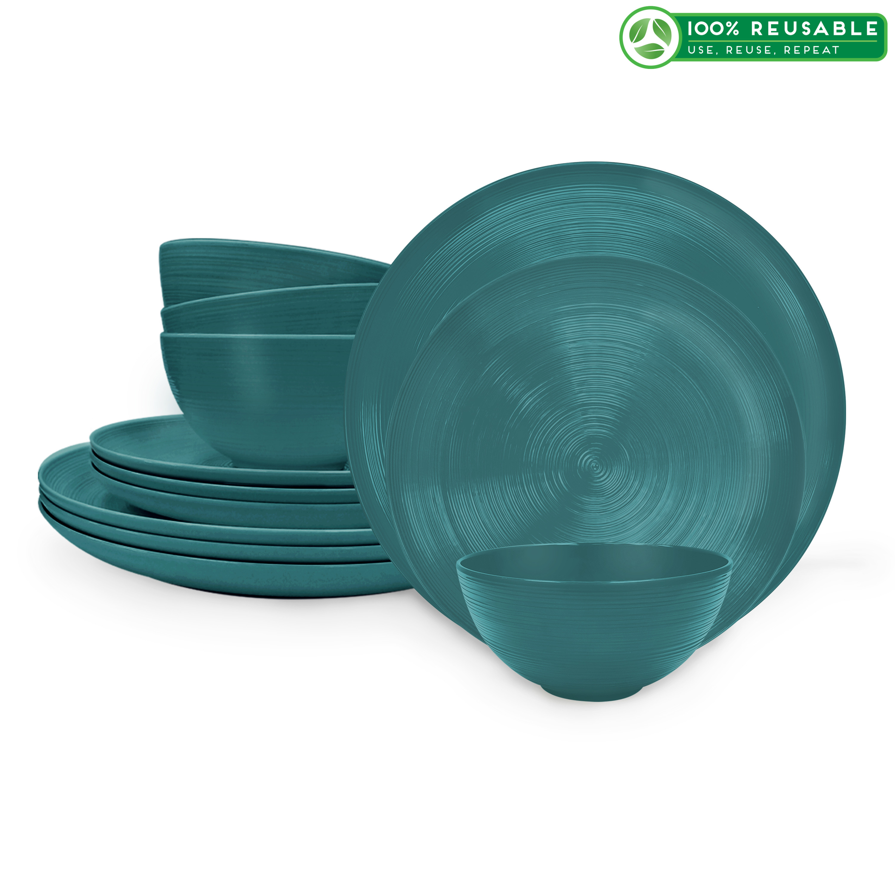American Conventional Plate & Bowl Sets, Marine, 12-piece set slideshow image 1