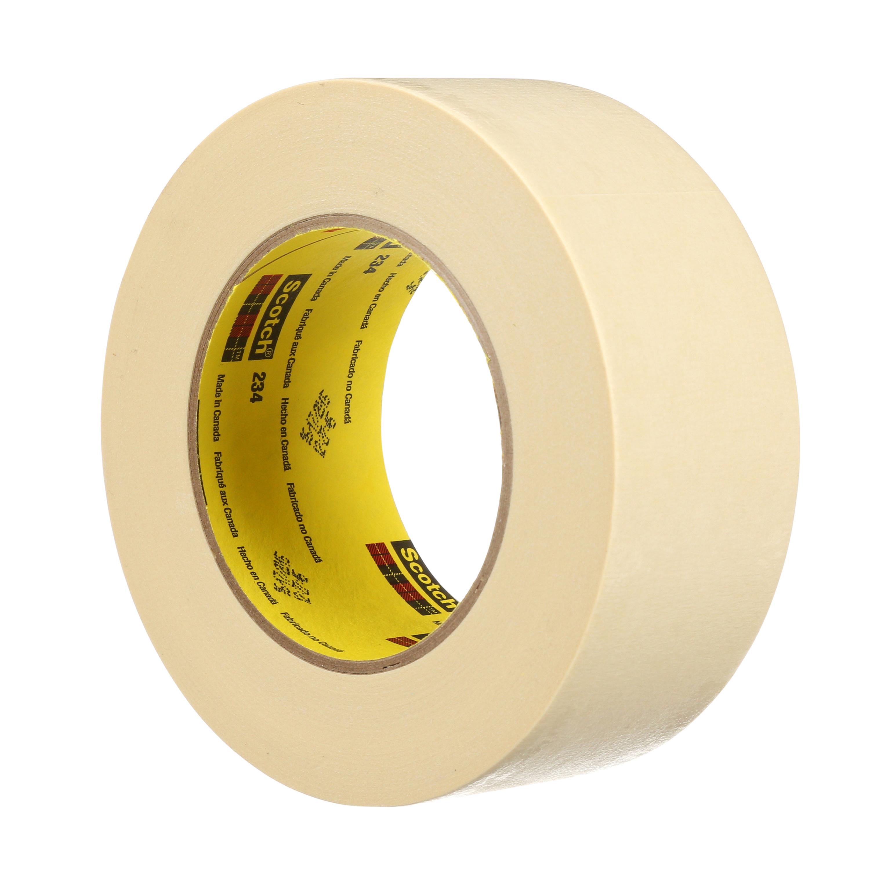 3M™ General Purpose Masking Tape 234, Tan, 57 in x 60 yd, 5.9 mil, 1 per case