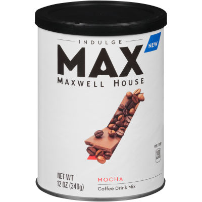 MAX Indulge by Maxwell House Mocha Instant Coffee 12 oz Canister