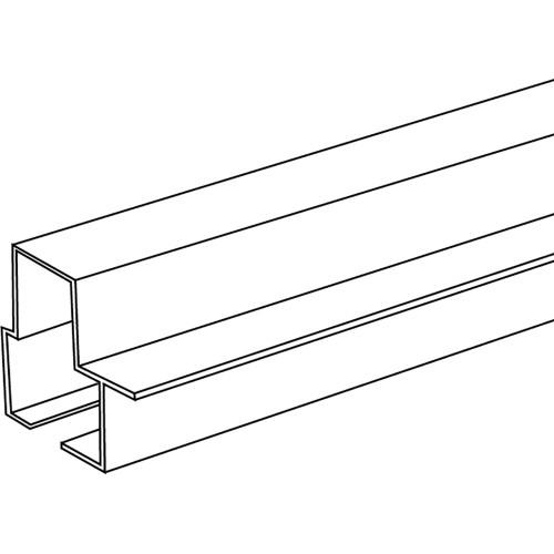 Hillman Bottom Rail Door Frame Vertical White 8'