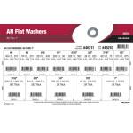 """AN Flat Washers Assortment (#6 thru 1"""")"""