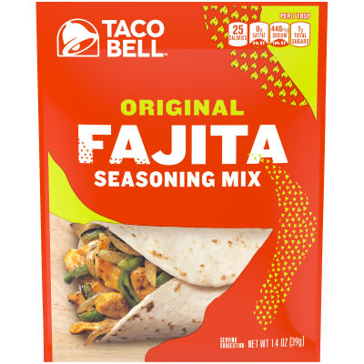 Taco Bell Original Fajita Seasoning Mix 1.4 oz Envelope